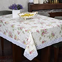 Flannel Backed Vinyl Tablecloth Indoor Outdoor Multi Functional Tablecloth Restaurant Table Cover For Picnic Outdoor Use,55-inch by 72-inch