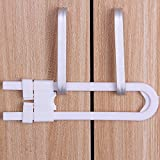 FOONEE Child and Baby Safety Sliding Cabinet Locks, U Shape Cupboard Locks for Drawers, Cabinets, Closets - No Tools Required