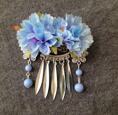 usongs Plucking flowers antiquity song hairpin side clip fringed costume headdress headdress classical Chinese silk dress