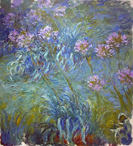 Agapanthus - Masterpiece Classic - Artist: Claude Monet c. 1914 (16x24 Giclee Gallery Print, Wall Decor Travel Poster) ()