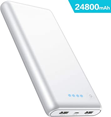 iPosible Batería Externa, Power Bank [24800mAh] Ultra Alta ...
