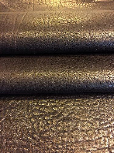 Real Leather Hides - Brown Color - Soft Thin Lambskin - Approx 1oz - 5 sq ft. AVG 26¨x 24¨at longest - Rustic Finish - Genuine Sheepskin Fabric - Craft Projects - Upholstery Home Décor Material