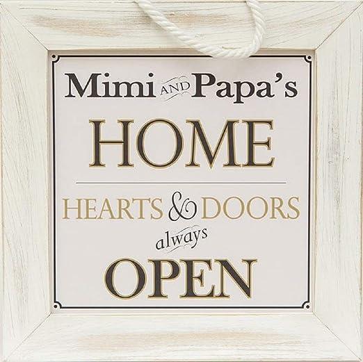 Amazon.com: Mimi y Papa la Casa de Home – decorativo ...