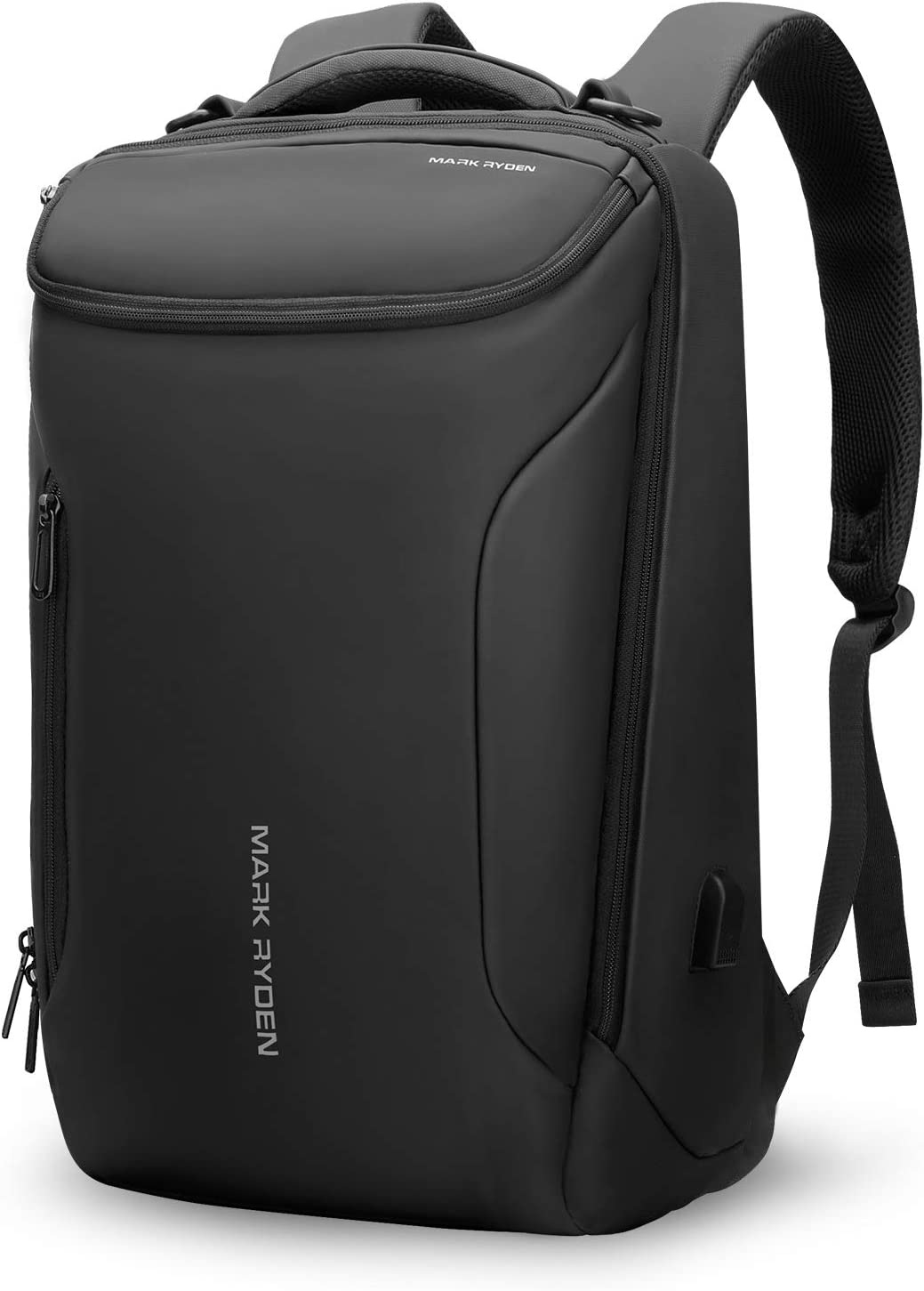 Business Backpack,MARK RYDEN Waterproof laptop Backpack for School Travel Work Flight Fits 17.3 Laptop With USB Port,30L Carry On Luggage