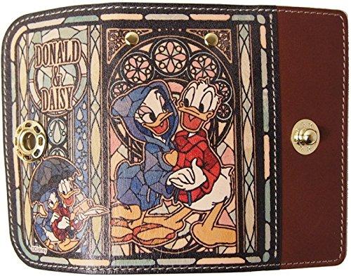 ドナルド&デイジー[鍵ケース 女性用 本革]レザーキーケース/ステンドグラスファンタジア ディズニー B01DETKATO