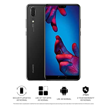 Huawei P20 128 GB 5 8-Inch FHD+ FullView Android 8 1 SIM-Free Smartphone,  Single SIM, Black - UK Version