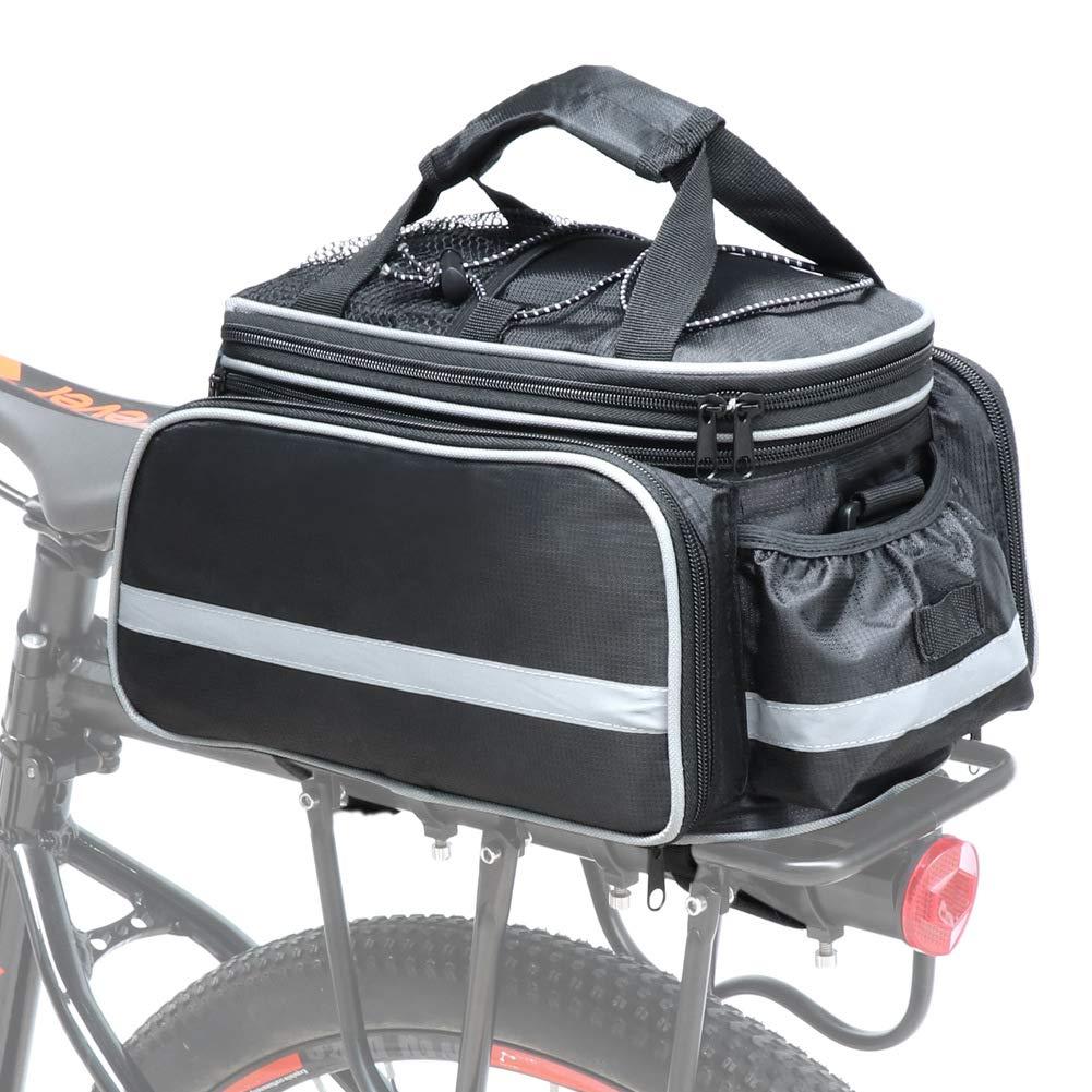 Cofit Bolsa para Maletero de Bicicleta, Bolso de Viaje Portátil Extensible para el Asiento Trasero de la Bicicleta Pannier de 25L Fitam