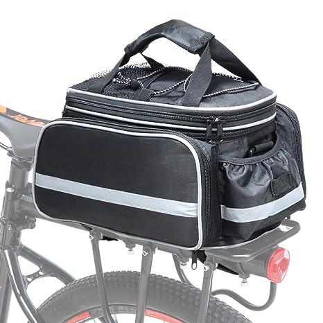ffbc764cb6 Cofit Bicicletta Borsa per Bauletto, Sacchetto Portautensile Portatile  Estensibile per Bicicletta Posteriore 25L Nero