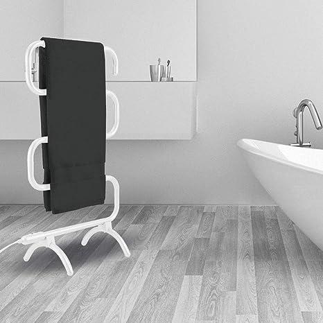 GLgl Curva de toallero portátil Libre de pie calienta Toallas Calentador de bajo Consumo de energía
