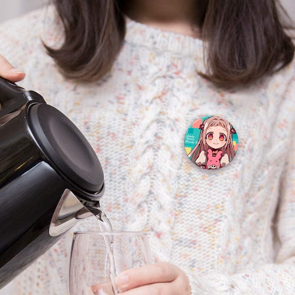 New Quero Jom91 Toilet-Bound Hanako-kun Metal Pins Badge for Backpacks Button Clothes Brooch Pins