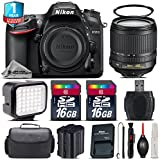 Holiday Saving Bundle for D7200 DSLR Camera + 18-105mm VR Lens + LED Kit + Backup Battery + 1yr Extended Warranty + 2 Of Ultra Fast 16GB Class 10 + Camera Case - International Version