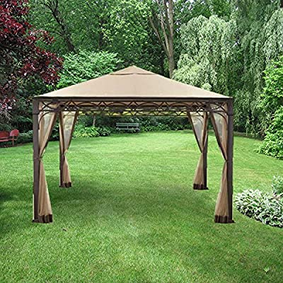 Garden Winds Valence Gazebo Replacement Canopy Top Cover - RipLock 350 : Garden & Outdoor