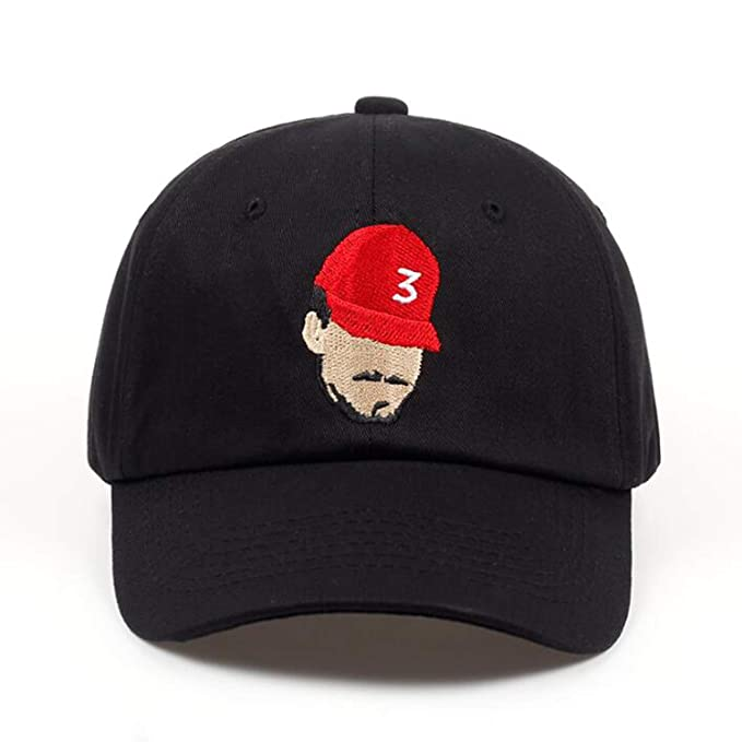 62b224635450d0 New Popular Chance The Rapper 3 Dad Hat Cap Black Embroidery Baseball Cap  Hip Hop Streetwear Snapback Sun Hat at Amazon Women's Clothing store:
