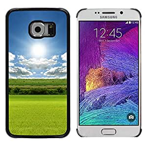 Paccase / SLIM PC / Aliminium Casa Carcasa Funda Case Cover - Nature Field Sun - Samsung Galaxy S6 EDGE SM-G925