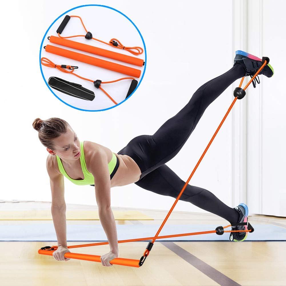 Banda De Resistencia Barra Abdominales Estiramiento Barra Resistencia Yoga Ejercicios Yoga Pilates Stick con Foot Loop para Yoga ATRNA Barra De Pilates Torcer Esculpir