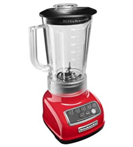 KitchenAid RKSB1570ER 5-Speed Blender with 56-Ounce BPA-Free Pitcher - Empire Red (Certified Refurbished)
