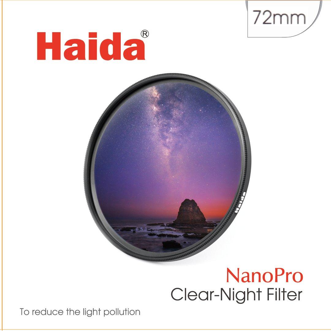 Haida 72mm Clear-Night Filter NanoPro MC Light Pollution Reduction for Sky / Star 72