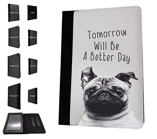 Amazoncom 003424 Tomorrow Will Be A Better Day Quote Cute Pug