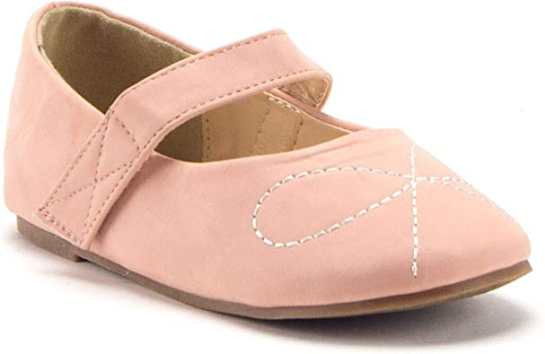 Toddler Girl Outdoor Soft Sole Dress Flats Shoes Slip On Closed Toe Fashion