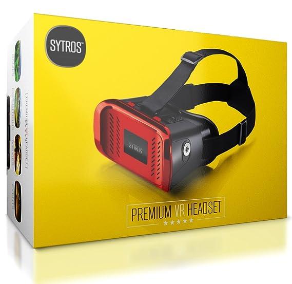 20064766cb2 Amazon.com  Premium Virtual Reality VR Headset w  Magnetic Button Trigger  by Sytros