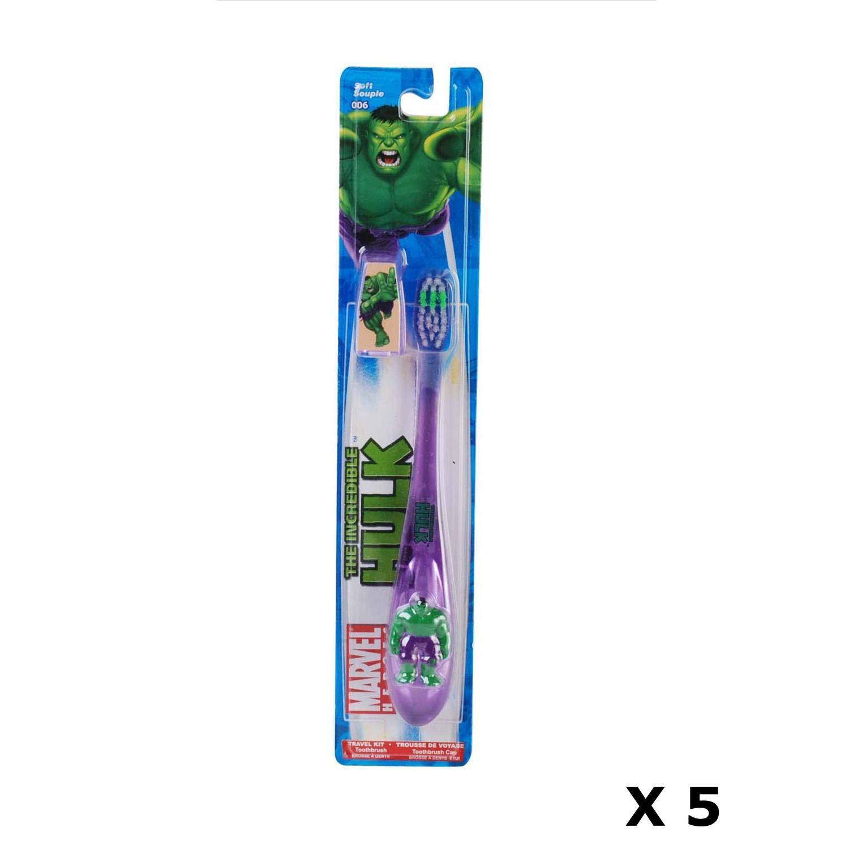 Hulk - Juego de 5 cepillos de dientes para niños de 6 años y ...