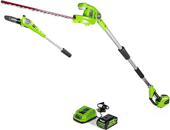 Greenworks PSPH40B210 Cordless Pole Saw - Best Versatile Package
