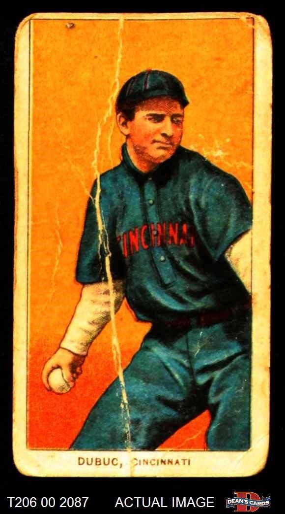 1909 T206 Jean Dubuc Cincinnati Reds (Baseball Card) Dean's Cards 1 - POOR Reds 61MrJvKTN4L