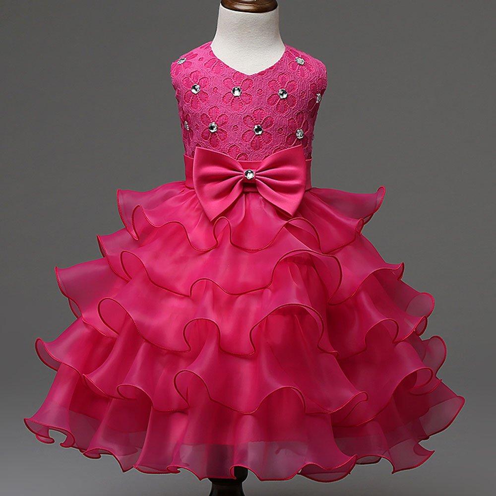 Yamally Big Girls Sleeveless Bridesmaid Maxi Gown Princess Dress for Pageant,Wedding,Party Yamally/_9R
