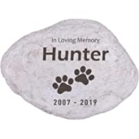 HMGYGS Pet Memorial Stones Personalized Pet Grave Markers, Customed Engraved Pet Name, Dates, Pet Memorial Gifts