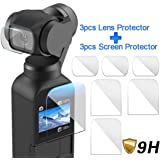 Auppova [6 Pack] Screen Protector Film Compatible with DJI Osmo Pocket, Explosion-Proof TPU Screen Protector Film Full Coverage Compatible with DJI Osmo Pocket Accessory