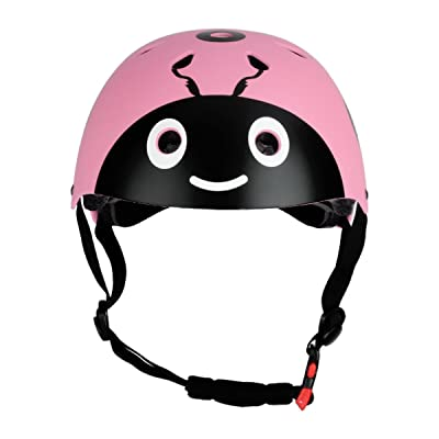 dPois Kids Cute Safety Helmets Boys Girls Bike Helmet for Skateboard Cycling Skate Scooter Outdoor Activities Pink One Size: Toys & Games