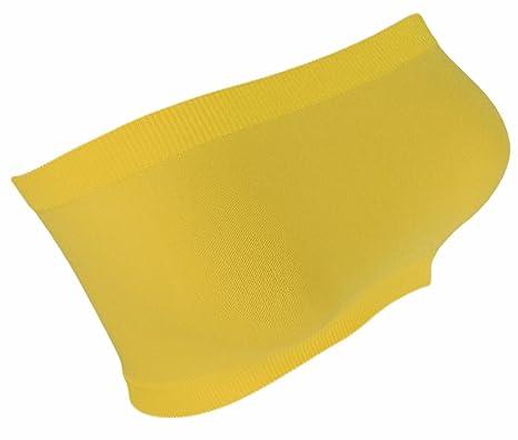 46368881346 Ladies  Neon Bandeau Top Body GoGo Strapless Bustier Sports Bra BT1 ...