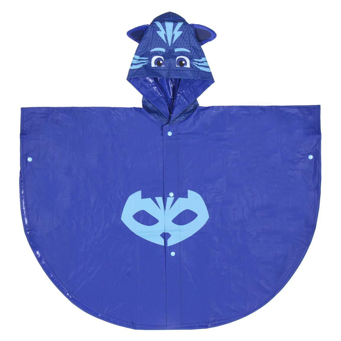 PJ Masks Superpigiamini - Poncho da Pioggia Impermeabile con Cappuccio Prodotto Originale 55220JP