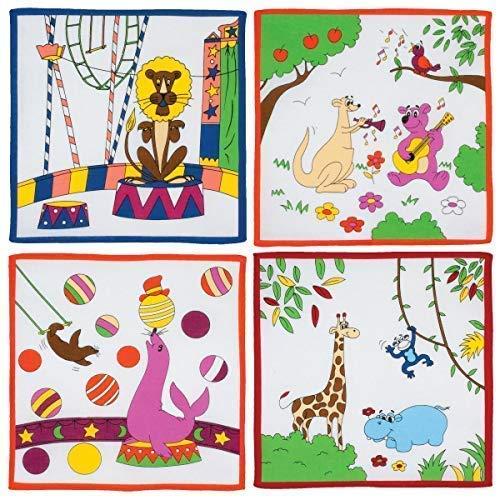 8 pezzi Modello /« Bambino/» Fazzoletti per Bambini 26x26cm