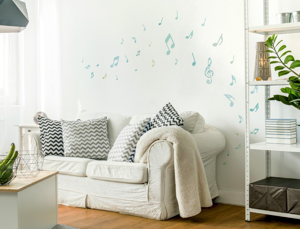 I-love-Wandtattoo WAS-10142 Wall stickers Kids Notes with patterns for boys Sticker Wall Decal Boy 35 piece