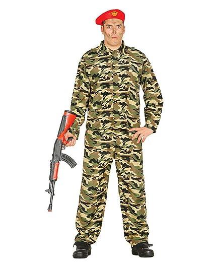 Horror-Shop Camuflaje Traje Soldado con el Casquillo M ...