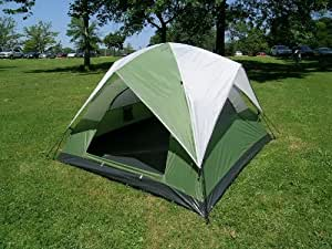 Three-Person Camping Dome Tent 7 Feet X 7 Feet One Touch Set Up