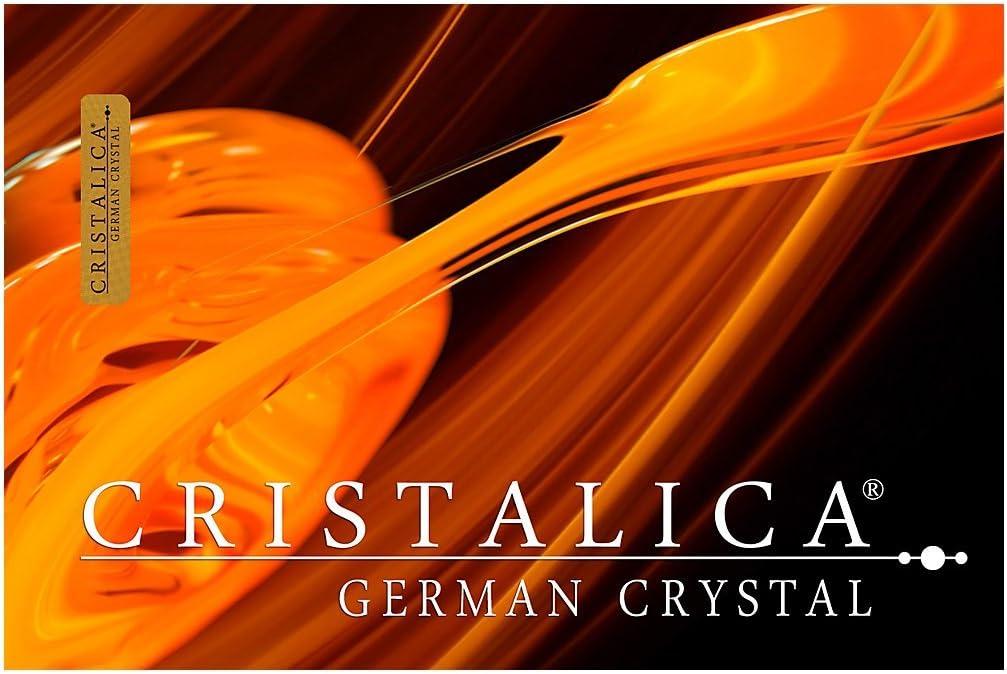 GERMAN CRYSTAL powered by CRISTALICA uniques Verre /à jus de fruit//eau CollectionGERBERA 300 ml style moderne verre de haute qualit/é