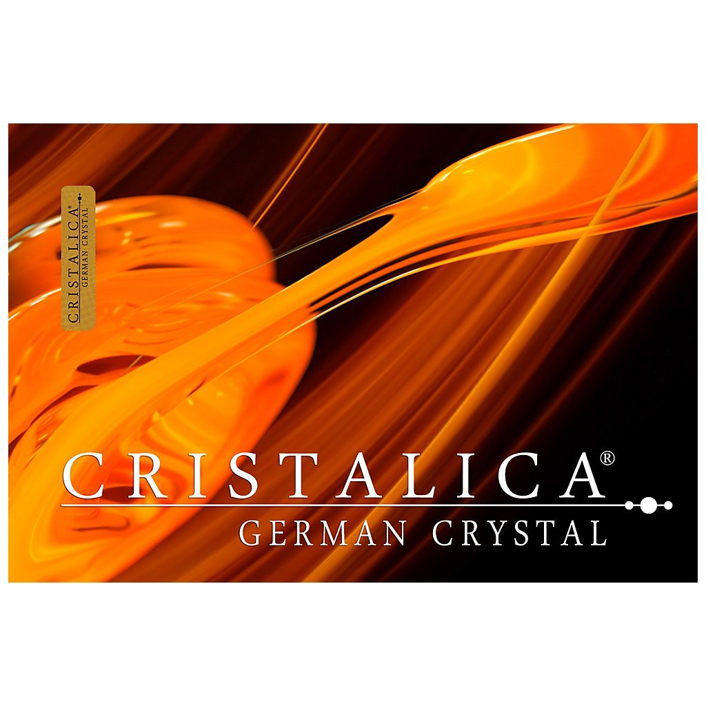 GERMAN CRYSTAL powered by CRISTALICA Crystal Candlestick Tealight Candleholder OPERA 2 brazos transparent crystal Candlestick 18 cm