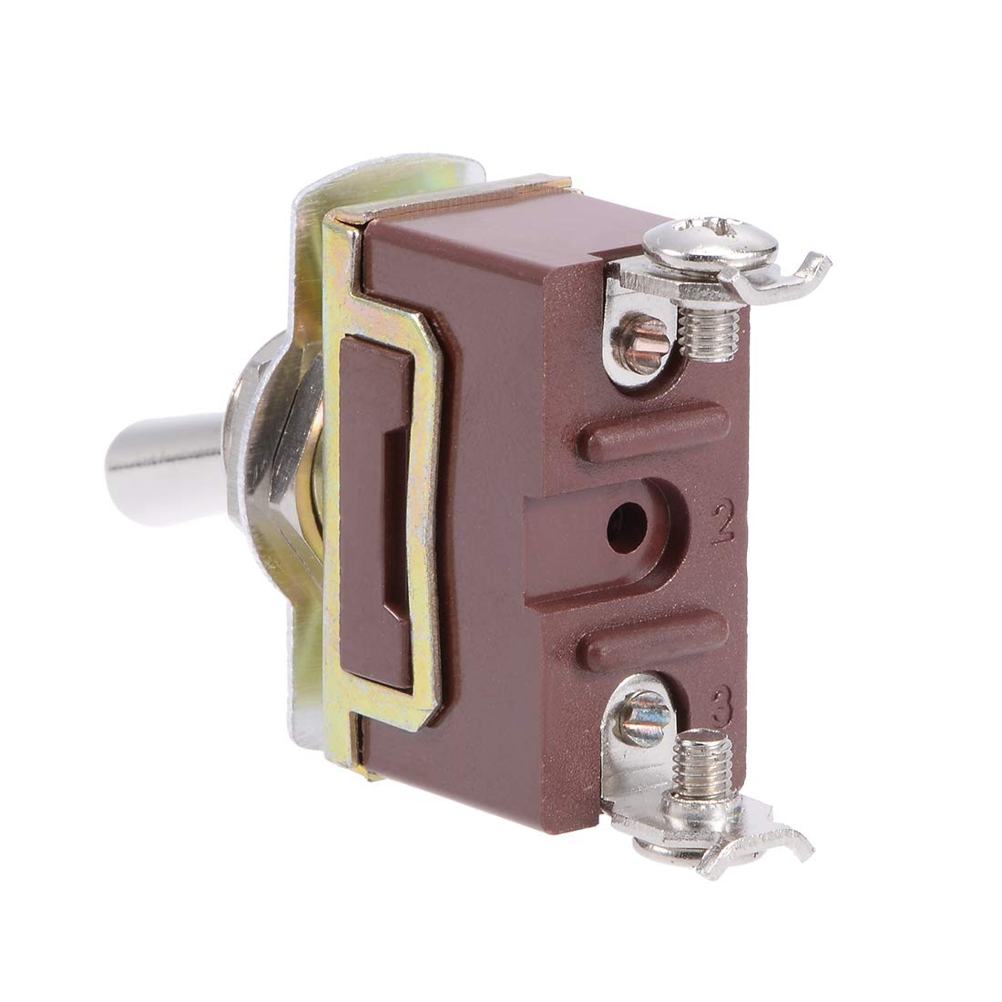 uxcell SPST Rocker Toggle Switch Self Locking Heavy-Duty 15A 250V 20A 125V 2P ON//Off Switch Metal Bat Waterproof Boot Cap Cover 2pcs