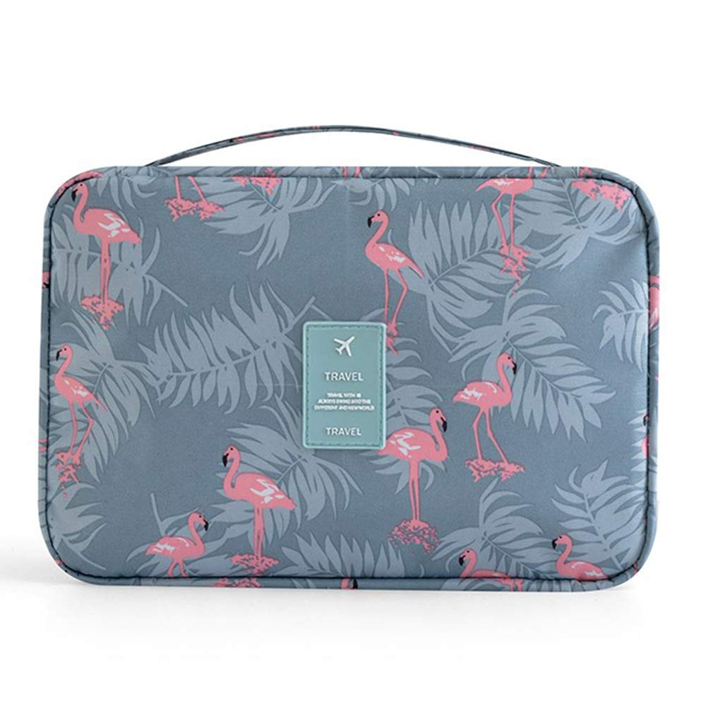 Amaoma Neceser Maquillaje Viaje Port/átil Bolso Cosm/ético Impermeable Estuche Maquillaje Bolsas de Aseo Cosm/éticos Neceser de Viaje Accesorios de Viaje para Mujere Ni/ña Flamingo