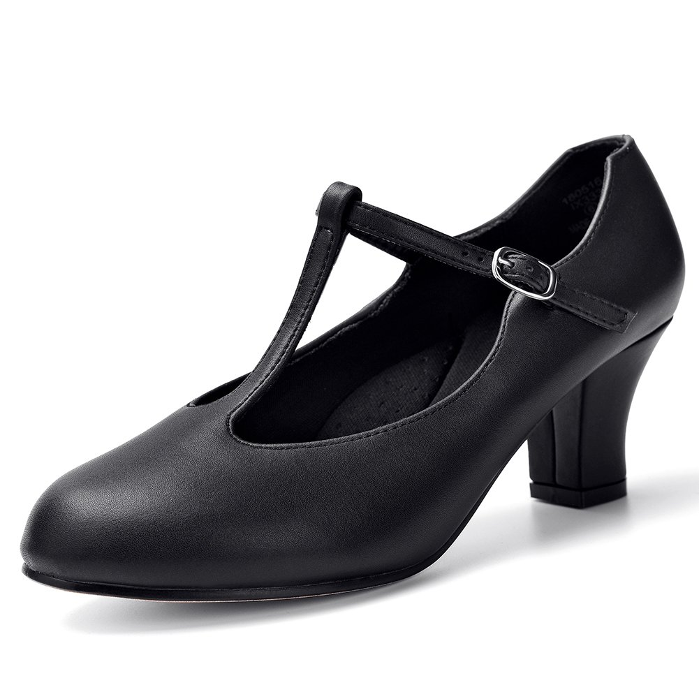 STELLE 2.5 T Strap Character Dance Shoes for Womens Girls SW180039