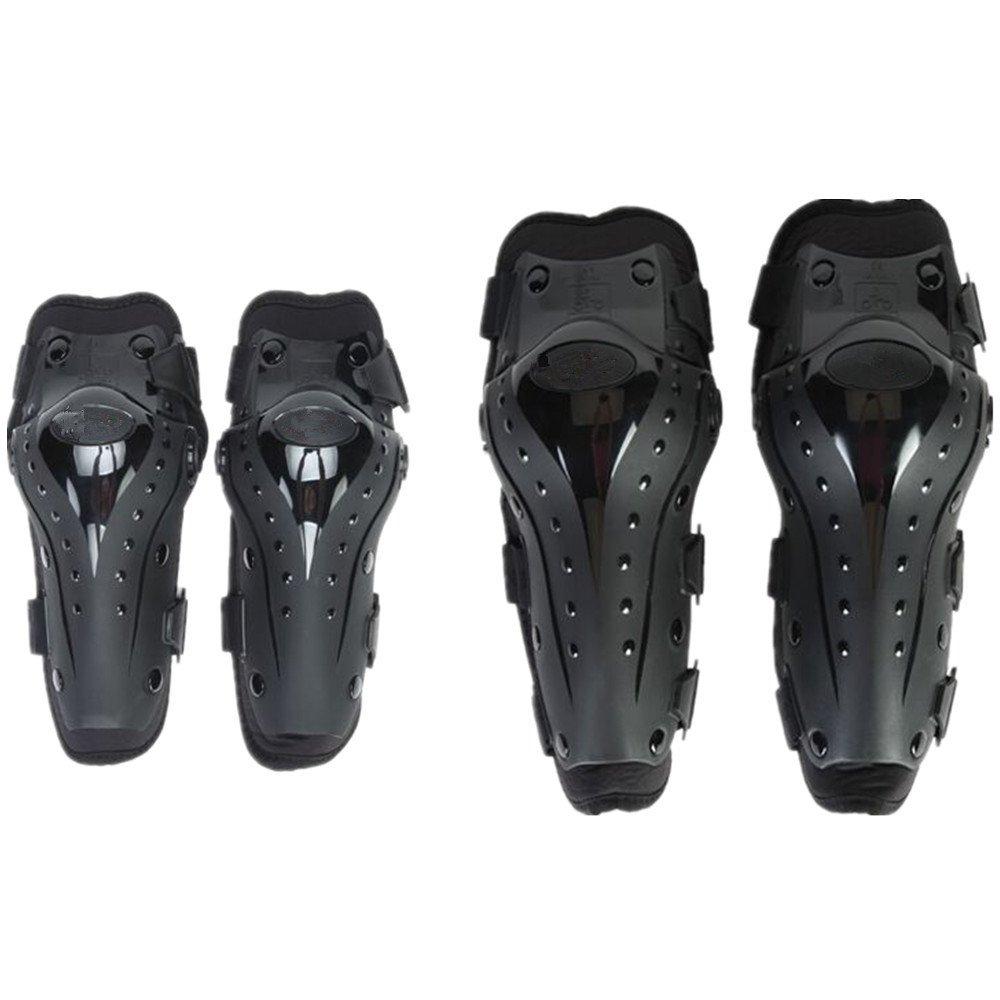 LCPG Motorrad Ellenbogen und Knieschützer Motocross Radfahren Protector Guard Rüstungen Set für Radfahren Skating Skifahren Reiten-4pcs