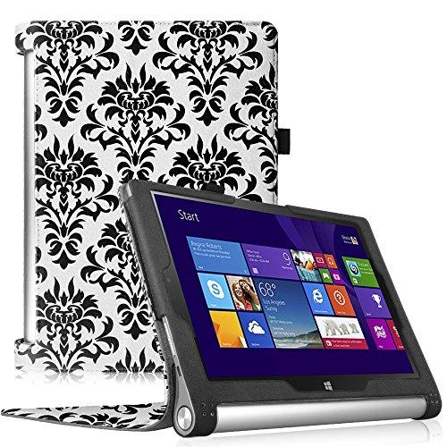 Fintie Lenovo Yoga Tablet 2 (10,1 Zoll FHD IPS) Hülle Case Cover Tasche Etui - Folio Kunstleder Schutzhülle mit Auto Sleep / Wake (geeignet für Lenovo Yoga Tablet 2-10 25,7 cm Tablet (Android und Windows Version), Gotik