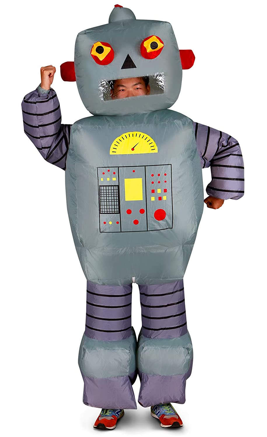 Costume Halloween Robot.Holidayana Inflatable Halloween Costume Robot Halloween Costumes For Men And Women Blow Up Adult Costumes Amazon In Clothing Accessories