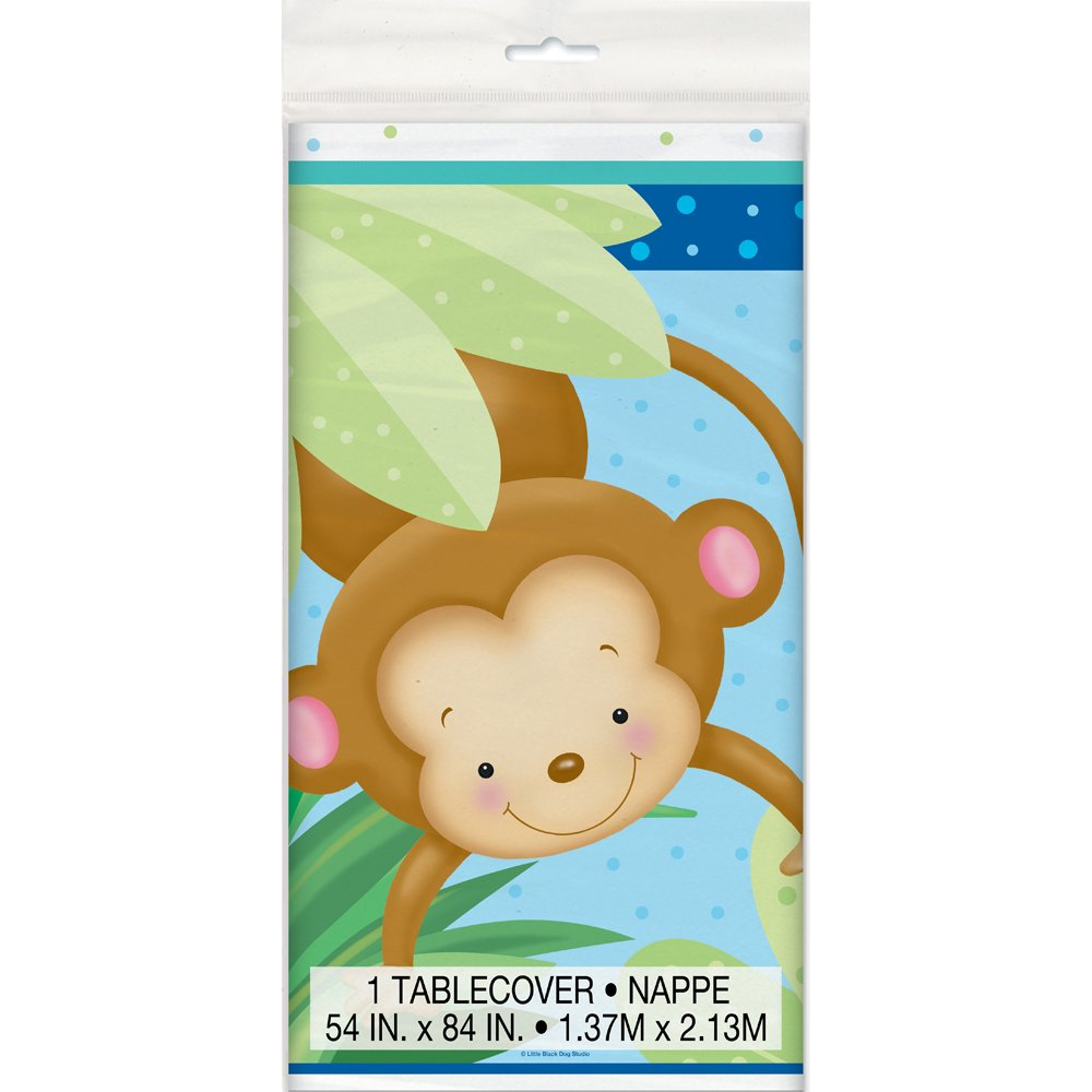 Pack of 16 Unique Party 49741-5 Boy Monkey Baby Shower Napkins
