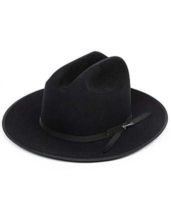 3c8ebc8eadb54 Stetson Open Road Hat Color Black at Amazon Men s Clothing store
