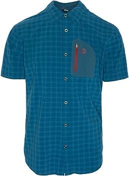 Ternua ® Camisa MC ATHY Shirt Hombre - Color Azul/Cuadros Verdes (XL): Amazon.es: Deportes y aire libre