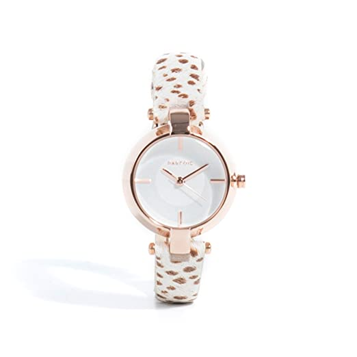 Parfois - Reloj Fur Strap - Mujeres - Tallas S - Beige: Amazon.es: Relojes
