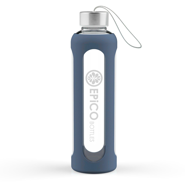 EPiCO Glas-Trinkflasche